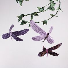 Custom Dragonfly Mobile handmade fabric mobile for by BabyJivesCo