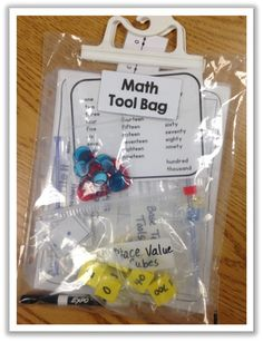 Adventures in Guided Math-math tool bag