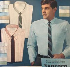 1964 mens dress shirts and skinny ties