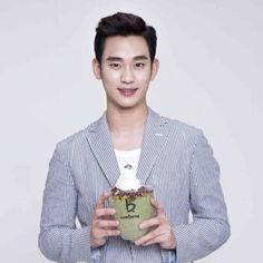 awesome Kim Soo Hyun - Advertising Caffebene (24.08.2015)