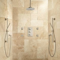 Monette Thermostatic Shower System - 2 Hand Showers - 4 Sprays