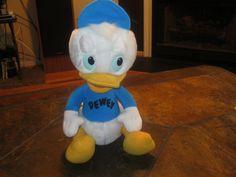 Up FOR SALE is a 1980s Playskool Dewey Duck Tales plush stuffed animal toy Walt Disney very clean an was kept away..