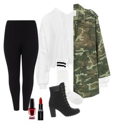 """Untitled #114"" by girldbx ❤ liked on Polyvore featuring Sans Souci, MANGO, Studio 8, ASOS, Timberland, Smashbox and OPI"
