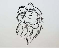 Tattoo Vector Lion Head - This is Tattoo Tribal Lion Tattoo, Small Lion Tattoo, Lion Head Tattoos, Lion Tattoo Design, Leo Tattoos, Lion Design, Tattos, Art Sketches, Art Drawings