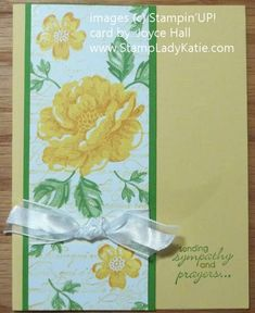 Card made with Stampin'UP! Stippled Blossoms and Distressed Dots. by StampLadyKatie Flower Stamp, Flower Cards, Paper Flowers, Poinsettia Cards, Pretty Cards, Watercolor Cards, Card Sketches, Sympathy Cards, Paper Cards