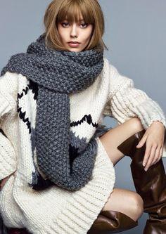 Ondria Hardin - Vogue China November 2014