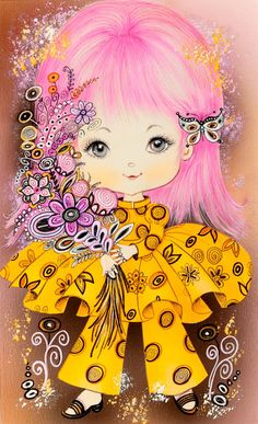 American School Century) Little Girls (group of six), The Norcross Greeting Card Collection Mixed media - Available at 2017 February 25 - 27 Fine &. Illustration Mignonne, Cute Illustration, Vintage Greeting Cards, Vintage Postcards, Cute Images, Cute Pictures, Art Mignon, Art Carte, Girls With Flowers
