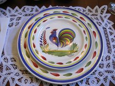 Quimper rooster #countryfrenchkitchens