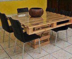 Τραπέζι απο παλέτες