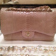 Chanel Pink Python Bag