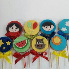 Pirulitos de biscoitos show da Luna