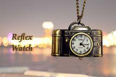 Orologio a forma di macchina fotografica reflex, portalo al collo e vedi facilmente l'orario. Color bronzo. Vintage style Colore: bronze - 12€+spese  di spedizione
