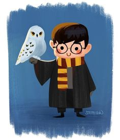 regram @stephlewart Harry potter and hedwig #stephlew #photoshop #dailydoodle…