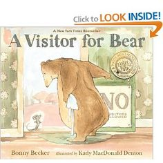 A Visitor for Bear (Bear and Mouse): Bonny Becker, Kady MacDonald Denton: 9780763646110: Amazon.com: Books