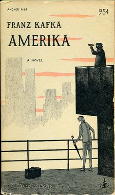 Franz Kafka - Amerika - Cover by Edward Gorey (view more : http://www.flickr.com/photos/marcianddeth/sets/72157623540530883/with/4427677521/)