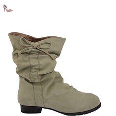 Unbekannt , Bottes à enfiler femme - - kaki, 40 EU - Chaussures unbekannt (*Partner-Link)