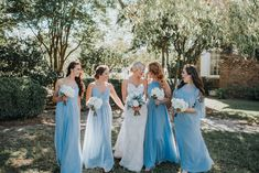 Lux & Union is a creative floral design studio based in Charleston, SC., specializing in wedding and special event floral work. Blue Bridesmaids, Bridesmaid Dresses, Wedding Dresses, Blue Bouquet, Charleston, Special Events, Bouquets, Floral Design, Creative