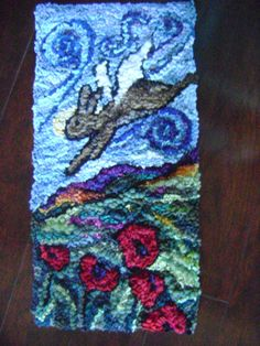 Bunny saves the day by AccentsByAbby on Etsy, $350.00