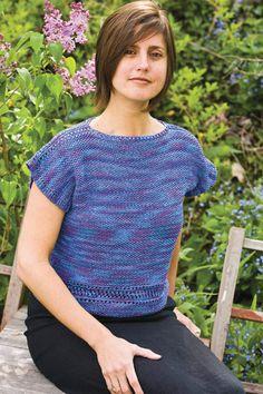 free knitting patterns, yarns and knitting supplies - #355 Susan Boatneck Shell