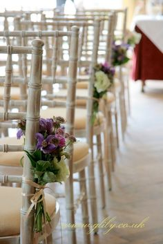 Chiavari chairs decorated with flowers Charlton House, Chiavari Chairs, Swinging Chair, Floral Wedding, Ladder Decor, Wedding Inspiration, Wedding Ideas, The Incredibles, Candles