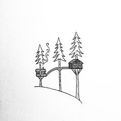 Doodle of The Cinder Cone.