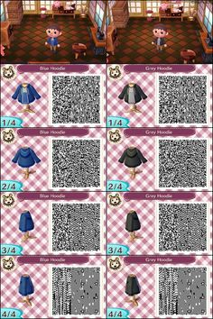 Motif 1135 acnl pinterest motifs v tements for Wood floor qr code animal crossing
