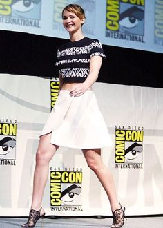 "Jennifer Lawrence at the ""Catching Fire"" Panel during 2013 San Diego Comic Con (July 20)"