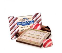 Peppermint Bark with Dark Chocolate Ghirardelli Ghirardelli Chocolate Squares, Chocolate Peppermint Bark, Peppermint Mocha, Chocolate Company, Bulk Candy, Chocolate Gifts, Hot Chocolate, Christmas Candy, Everything