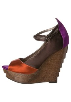 Roberta Farc - Sandalen met hoge hak - Bruin Wedges, Shoes, Fashion, Sandals, Moda, Zapatos, Shoes Outlet, Fashion Styles, Shoe