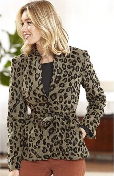 Belted Two-Button Blazer