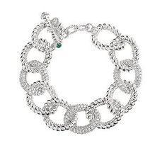 Judith Ripka Sterling Diamonique Limited Edition Curb Bracelet — QVC.com