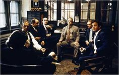 The Godfather: Vito Corleone and his people meet with Virgil Sollozzo