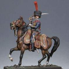 Versions cavaliers : Officer, mounted artillery of the Guard