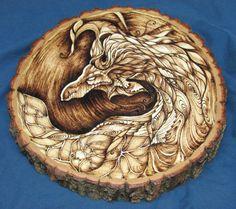 ARBRE DRAGON SPIRIT  Art bois pyrogravure brûlé par BrianImlayArt