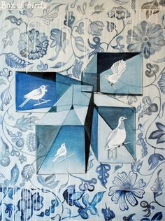 Box of Birds  60cm x 80cm  Acrylic on canvas