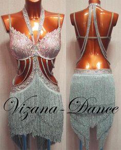 Платье латина Юн-2 Визана-Данс платья для спортивных бальных танцев