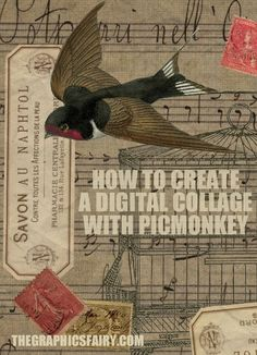 How to Create a Digital Collage with PicMonkey! - Graphics Fairy. Such a fun technique to use for Crafts, Printables or Handmade Card Projects! Great for digital scrapbooking too!
