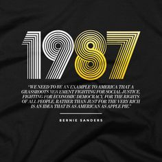 1987 Throwback Bernie Sanders Track Shirt. Bernie Sanders t-shirts, tees, apparel, shirts, and more #feelthebern #throwback