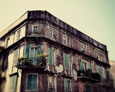 new orleans photography - new orleans art, architecture, building, green decor, french quarter art, travel