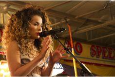 Ella Eyre performs a secret gig at Dingles Fairground Heritage Centre in West Devon