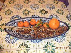 Deglet nour di Tozeur, clementine e thompson di Hammamet...
