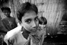 Yangon slum kids. Myanmar