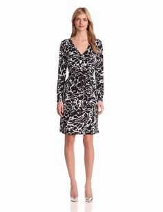 Jones New York Women's Mock Wrap Dress - Price:$74.25 [ http://www.apparelique.com/jones-new-york-womens-mock-wrap-dress/ ]
