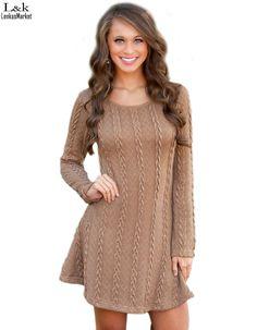 Women Dress Casual Fall Winter Dress