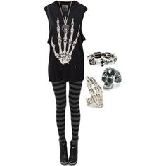 A fashion look from January 2013 featuring UNIF tops. Browse and shop related looks.