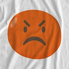 Emoji Disappointed Iron On Transfer Print