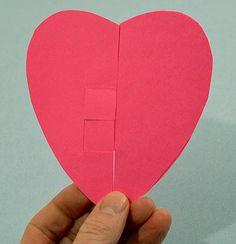 ellipse to heart paper trick