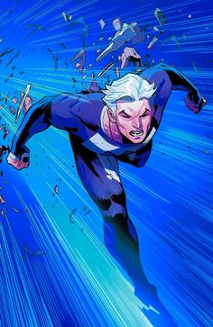 Quicksilver by Olivier Coipiel Marvel Dc Comics, Marvel Avengers, Uncanny Avengers, Young Avengers, Marvel Heroes, Marvel Characters, Fictional Characters, Quicksilver Marvel, Marvel Universe
