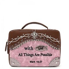 """""""With God All Things Are Possible"""" Bible Cover"""