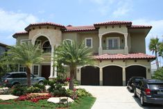 This Beautiful two story Classic Mediterranean Style residence features 5 bedrooms, 5 1/2 bathroom plus a cabana, a three car garage, a towering covered balconies and entrance with eight foot French doors and arched transom.  Plan # 611077